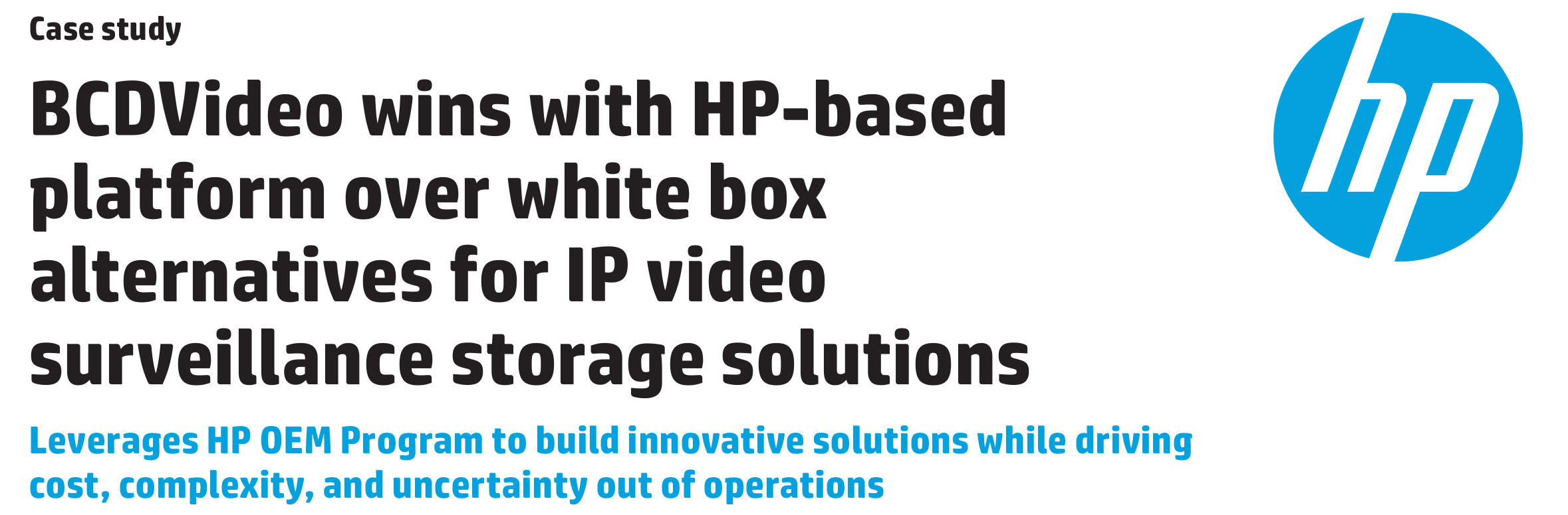 IT Case Study | HP | BCDVideo